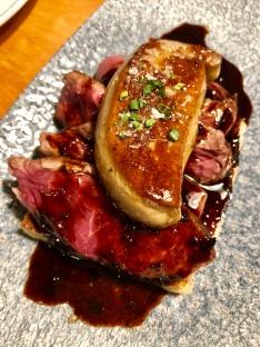 Steak with foie